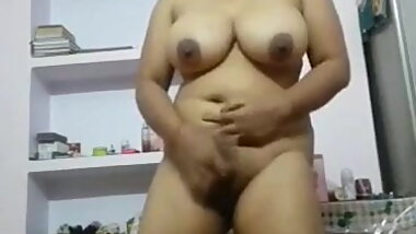 Selfshot Indian Gf - Fully Naked Boobs Play